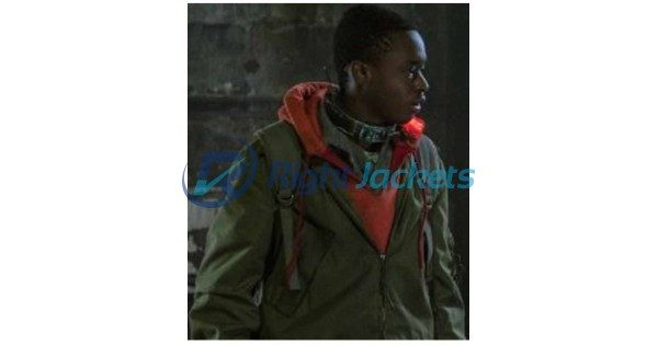 Captive State Ashton Sanders Bomber Green Cotton Jacket