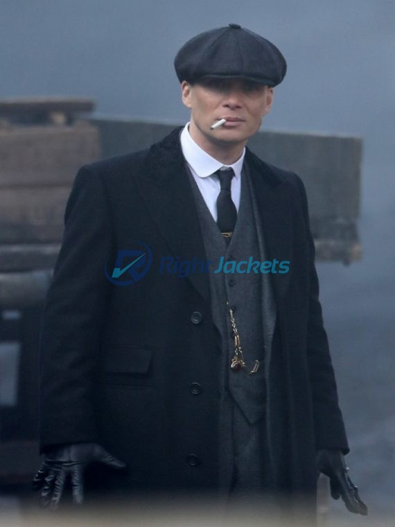 Cillian Murphy Tommy Shelby Peaky Blinders Black Long Wool Jacket