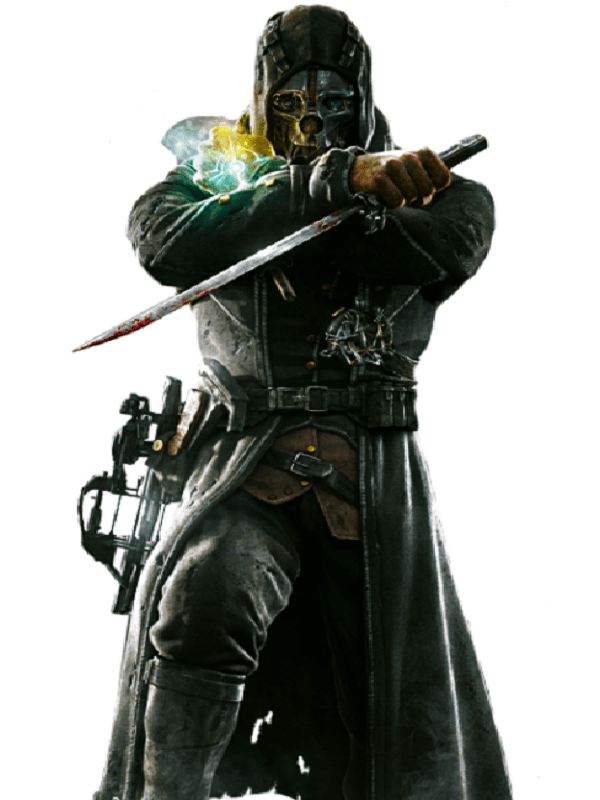 Corvo Attano Dishonored Hooded Leather Coat