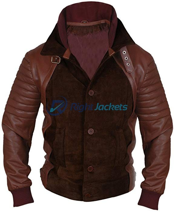 Daniel Radcliffe Horns Brown Suede Fur Leather Jacket