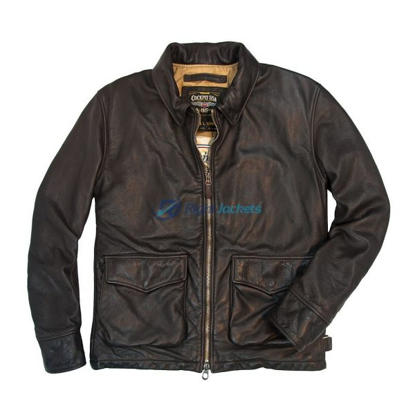 Division Commanders Cockpit USA Bomber Leather Tanker Jacket