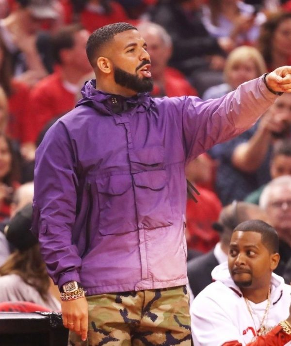 Drake NBA Playoffs Purple Coat