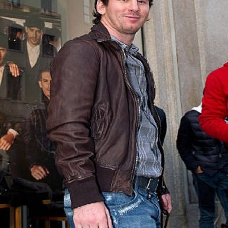 FIFA World Cup Famous Lionel Messi leather Jacket