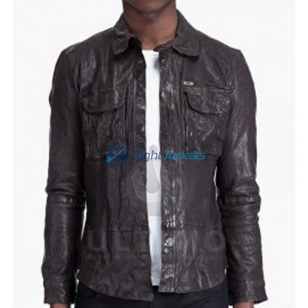 Falling Skies Noah Wyle Black Lether Jacket By John Pope