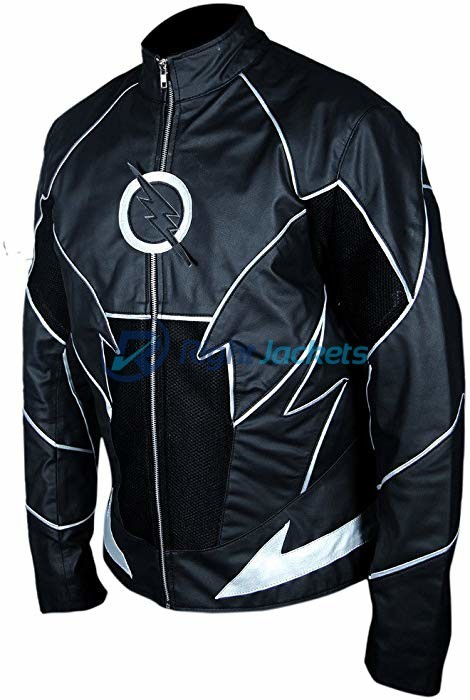 The Flash Teddy series Hunter Zolomon Zoom Black Leather Jacket