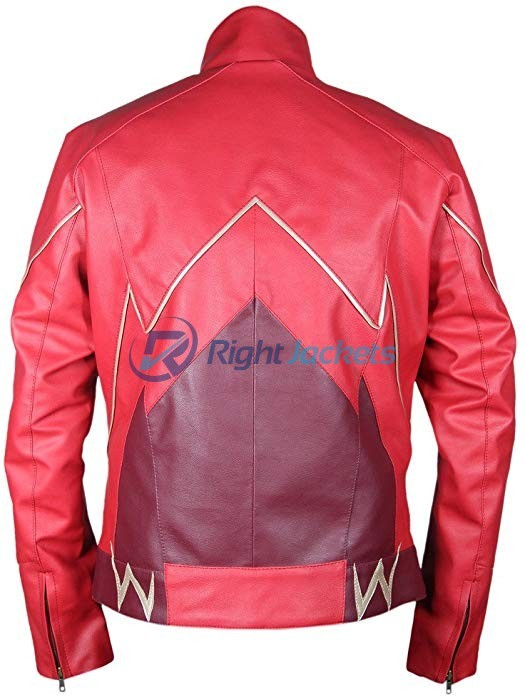 Grant Gustin Flash Barry Allen Red Leather Jacket