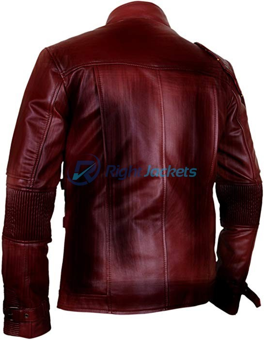 Guardians Of The Galaxy Vol 2 Brown Waxed Leather Jacket