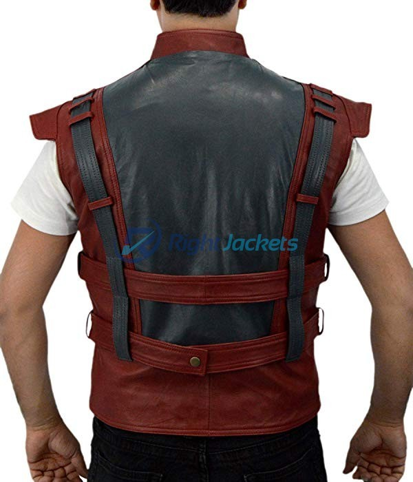 Guardians of The Galaxy Chris Pratt Star Lord Synthetic Leather Brown Vest