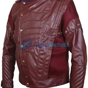 Guardians of the Galaxy Vol 2 Chris Pratt Star Lord Brown Leather Jacket