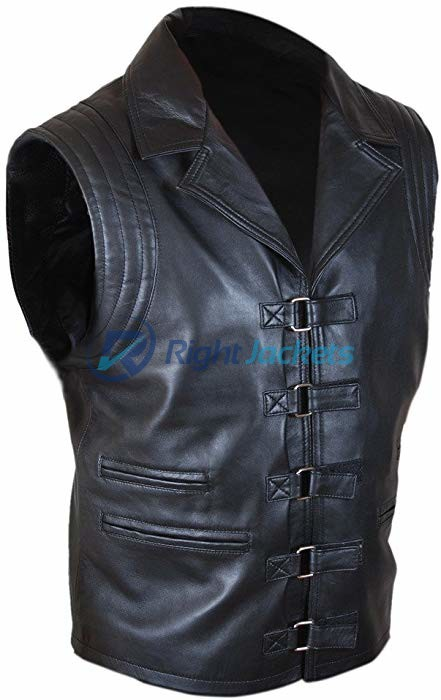 Hugh Jackman Van Helsing Black Leather Vest For Coat