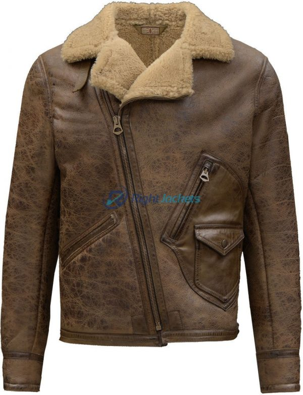 Indiana Jonesy Fortnite Brown Fur Leather Jacket