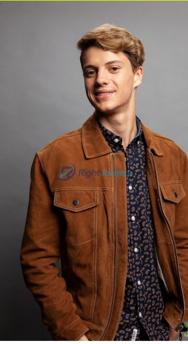 Jace Norman Suede Brown Stylish Leather Jacket