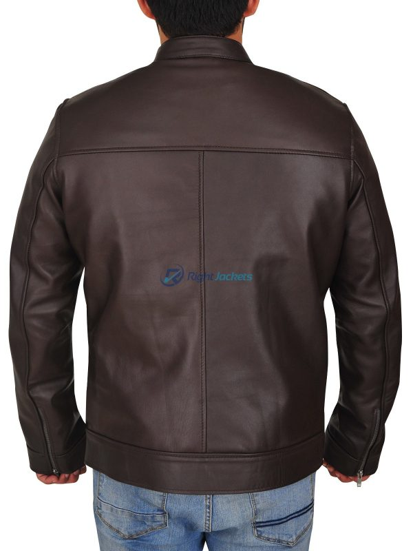 Jason Beghe Chicago PD Brown Hank Voight Leather Jacket