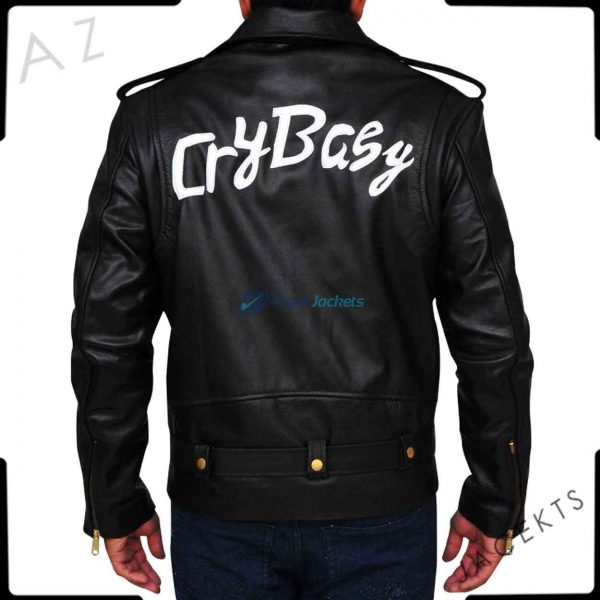 Johnny Depp Cry Baby Black Leather Biker Custom Jacket