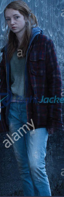 Kacey Rohl The Killing Brown Custom Cotton Jacket