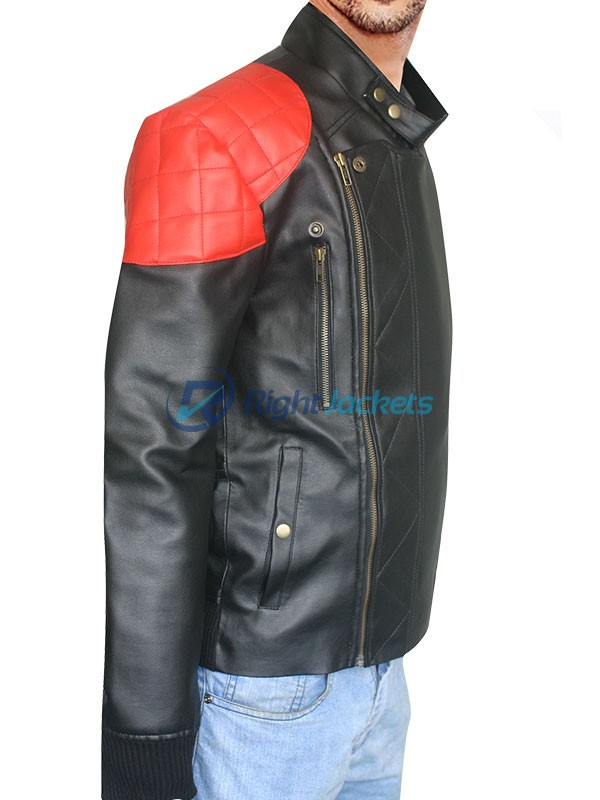 Kid Cudi American Actor Biker Black Leather Jacket