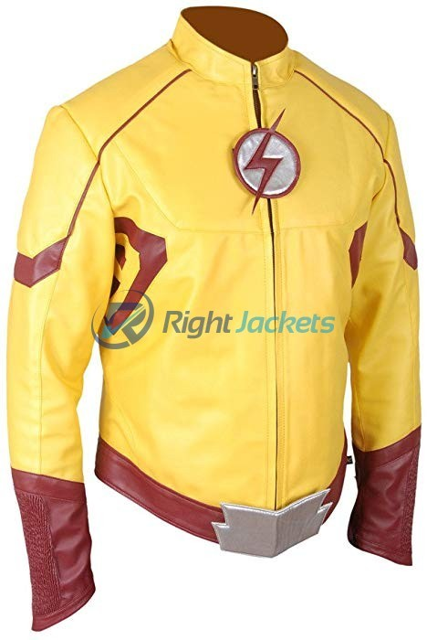 Kid Flash Keiynan Lonsdale Wally West Lonsdale Yellow Leather Jacket