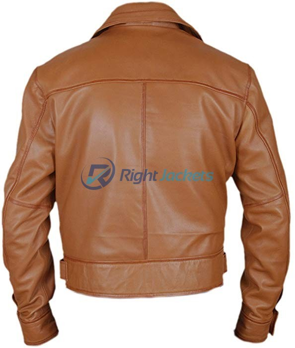 Leonardo DiCaprio Aviator Flight Brown Leather Jacket