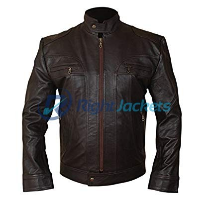 Matthew McConaughey Ghosts of Girlfriends Past Leather Brown Jacket