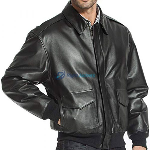 Men's Air Force A-2 Genuine Leather Flight Bomber Jacket