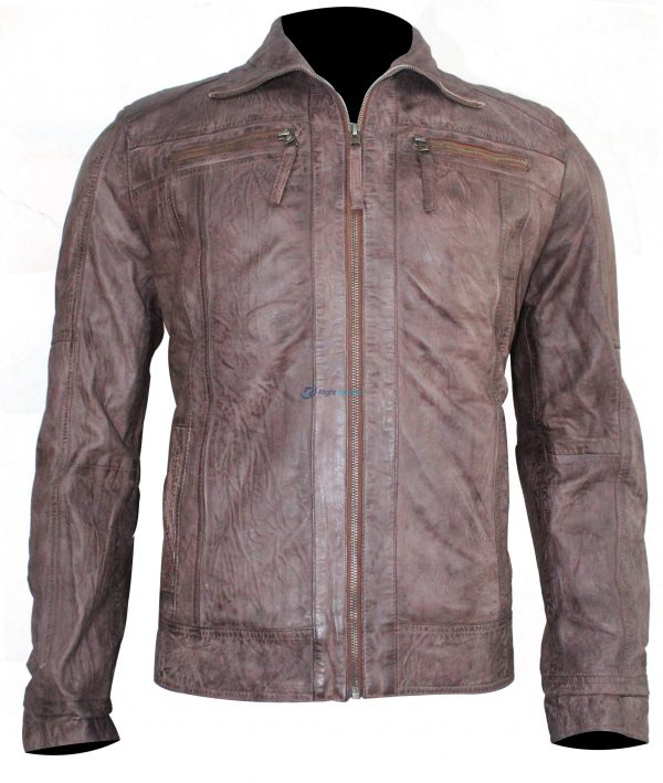 Mens Stylish leather Brown Jacket