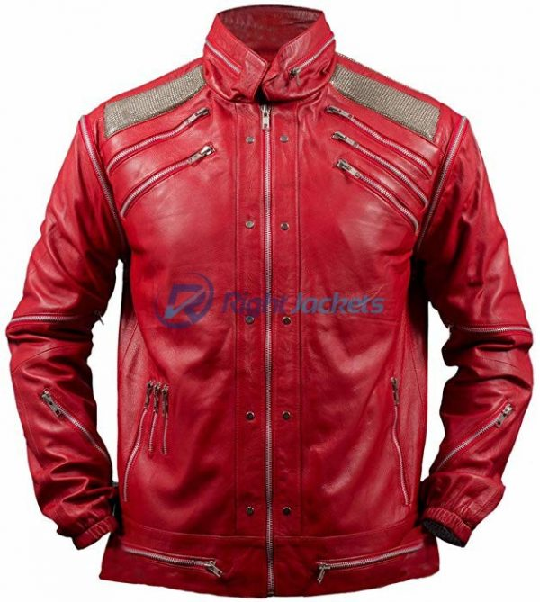 Michael Jackson Beat It Red Faux Leather Jacket