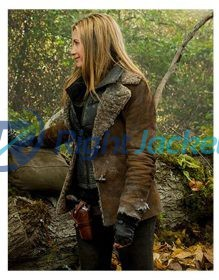 Mira Sorvino Falling Skies TV Series Brown Fur Jacket