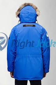 PBI Expedition Hooded Parka Royal Stylish Blue Cotton