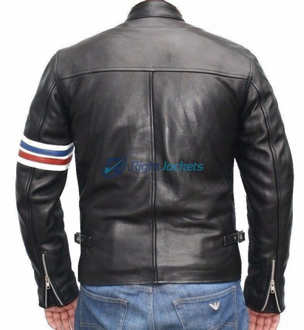 Peter Fonda Easy Rider Motorcycle Black Leather Jacket
