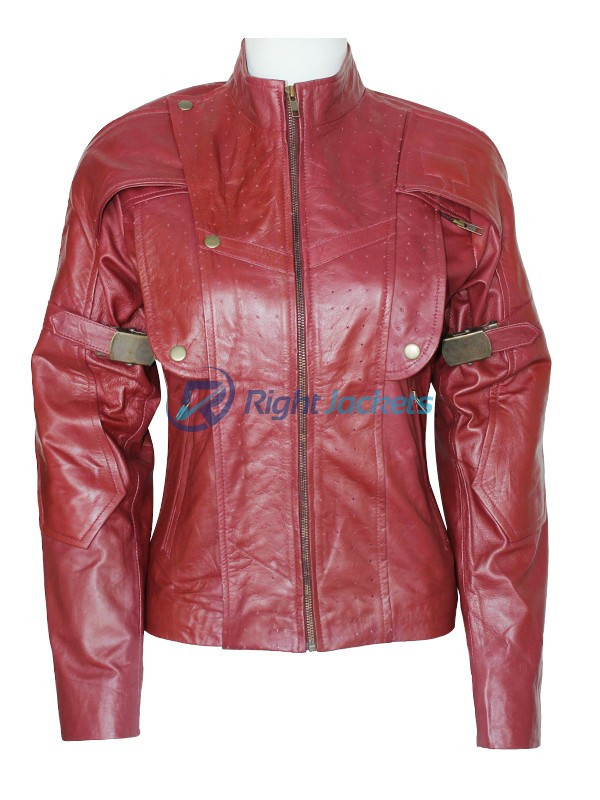 Peter Quill Guardians of the Galaxy Women Brown Leather Jacket