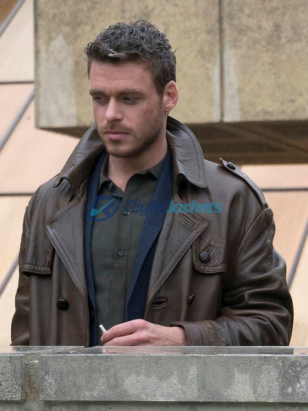 Philip K Dick Electric Dreams Agent Ross Brown Leather Coat