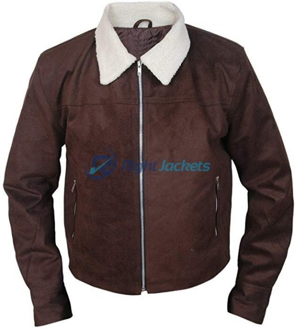 Rick Grimes The Walking Dead Suede Brown Jacket