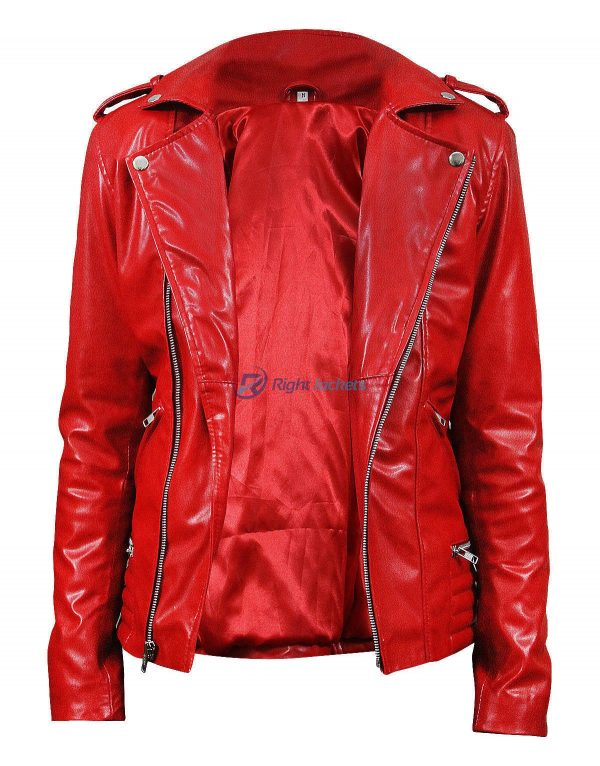 Riverdale Cheryl Blossom Women Southside Serpents Red Biker Jacket