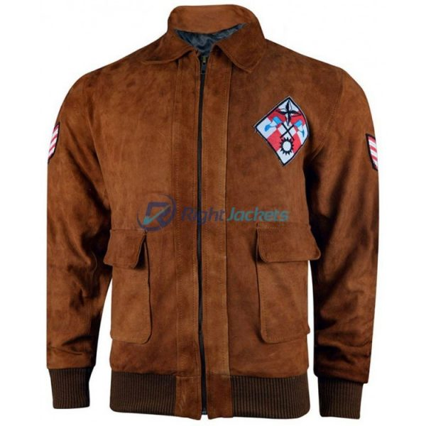 Ryo Hazuki Shenmue Bomber Brown Jacket With Tiger Patch