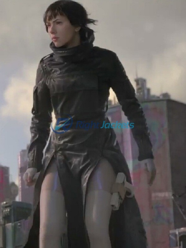Scarlett Johansson Ghost In The Shell Major Costume Leather Coat