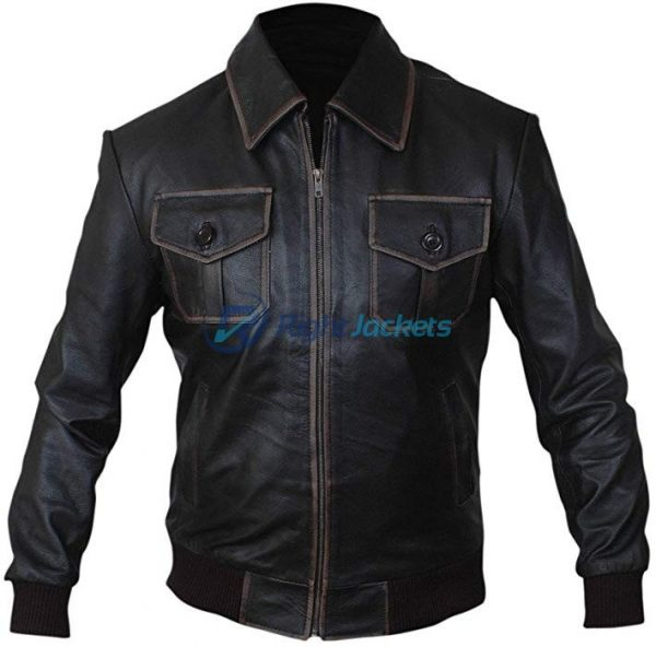 Sheriff Graham Once Upon a Time Brow Leather Bomber Jacket