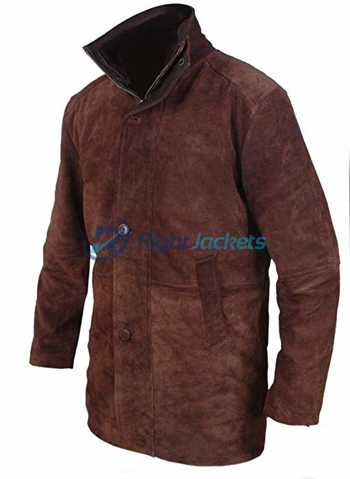 Sheriff Walt Longmire Robert Taylor Brown Suede Leather Coat