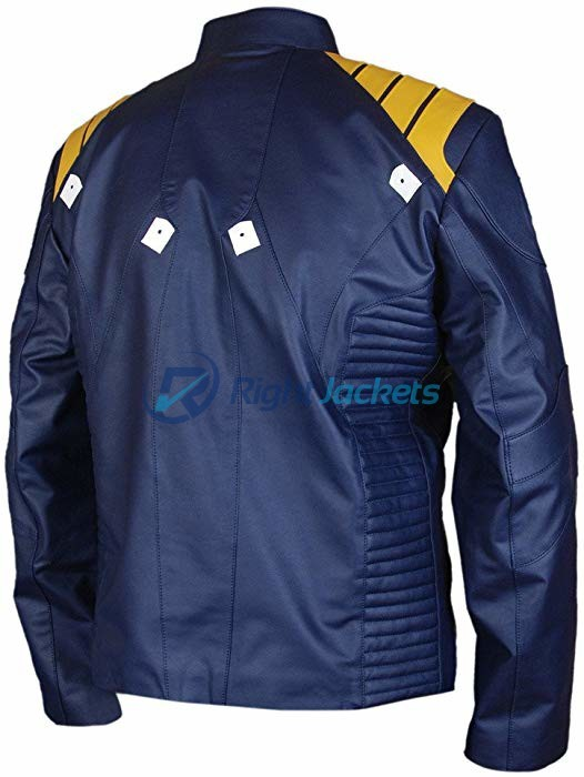 Star Trek Beyond Captain Kirk Chris Pine Blue Leather Jacket