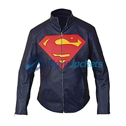 Superman Black Faux Leather Jacket
