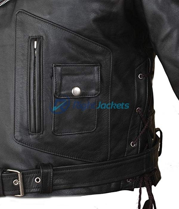 Terminator 2 Judgment Day Arnold Black Faux Leather Jacket