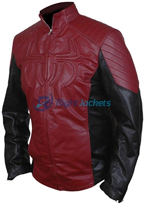 The Amazing Spider Man 2 Red Leather Jacket