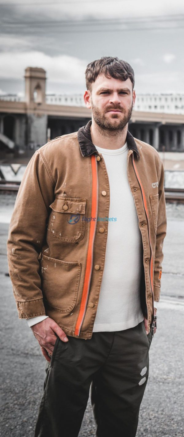 The Chainsmokers Alex Pall Stylish Brown Leather Jacket