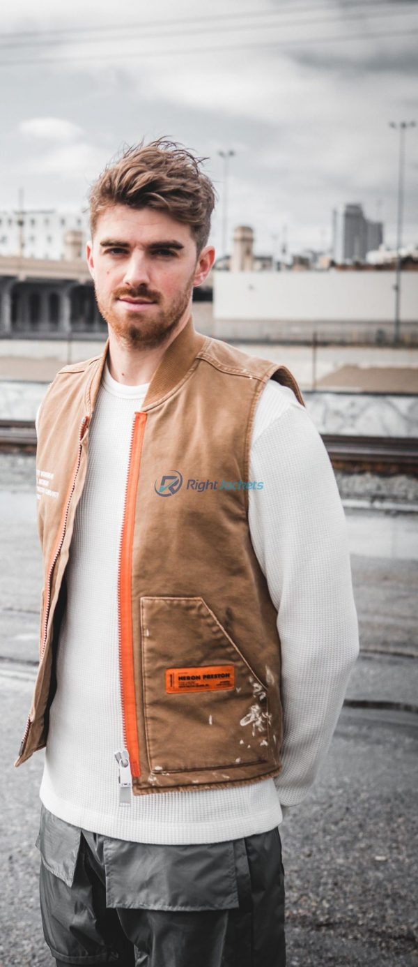 The Chainsmokers Andrew Taggart Stylish Brown Leather Jacket