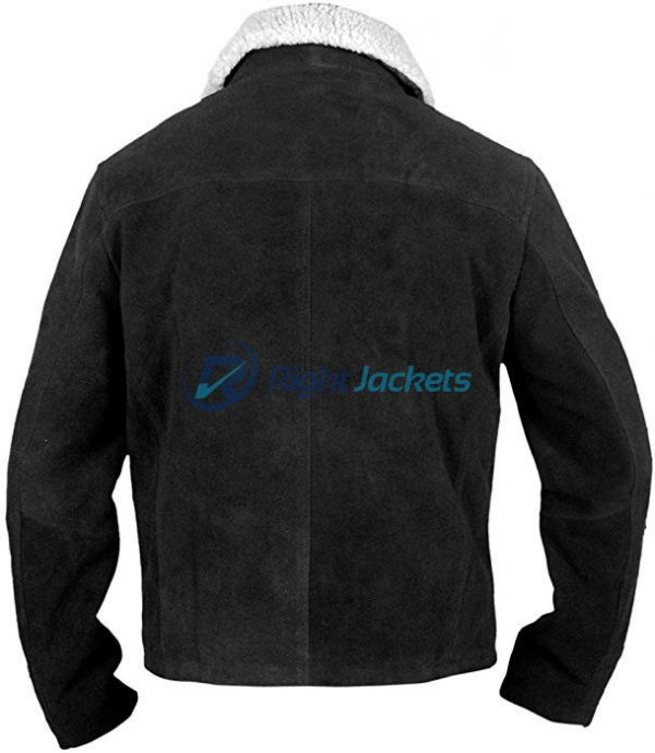 The Walking Dead Rick Grimes TV Series Suede Black Jacket