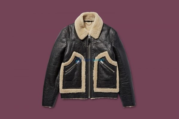This Shearling Is the Most Baller Stylish Leather Jacket