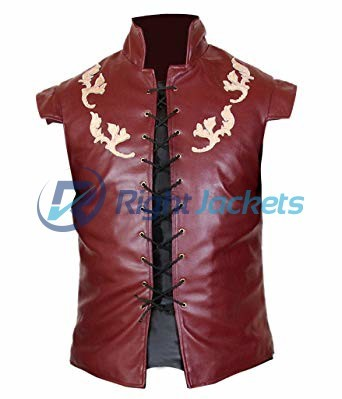 Thrones Peter Dinklage Tyrion Lannister Leather Brown Vest