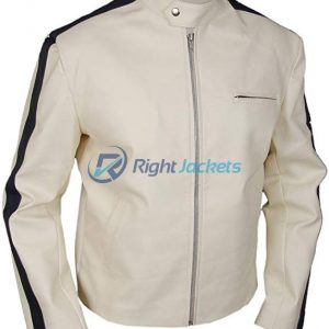 Tobey Marshall Jacket Aaron Paul Need for Speed White Leather Jacket