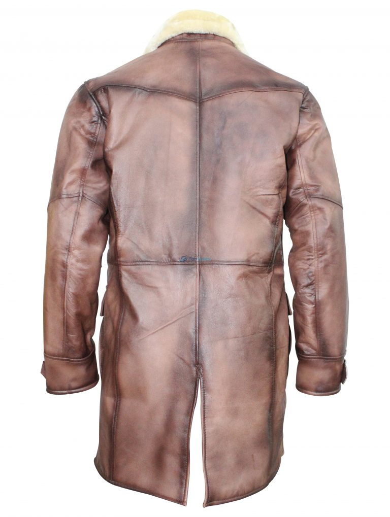 Tom Hardy The Dark Knight Rises Bane Shearling Leather Trench Coat