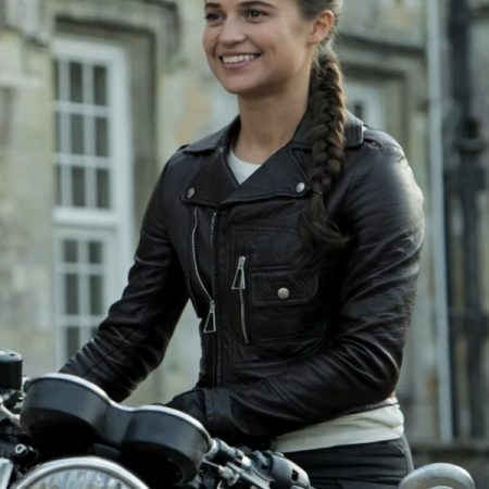 Tomb Raider Alicia Vikander Leather Jacket