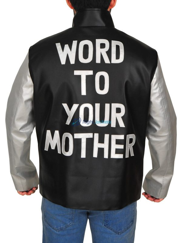 Vanilla Ice Word To Your Mother Black Leather Jacket